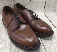 Allen Edmonds Brown Oxford Almond Apron Split Toe Lace Up Shoes Men's 8.5 D