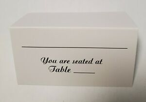 VICTORIA LYNN - 50 PCS WEDDING RECEPTION SEATING TABLE PLACE CARDS - NEW