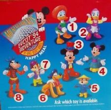 McDonalds Mickey & Friends at Epcot Disney Full Set of 8 & 3 Happy Meal Boxes