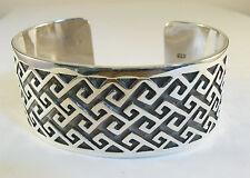 "925 sterling silver cuff bracelet Celtic knot design 1 1/8"" wide"