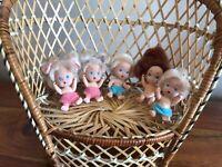 TYCO QUINTS x5  mini poupées avec couche 1990 Vintage