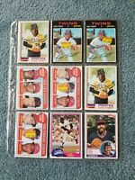 Luis Tiant Baseball Card Mixed Lot approx 15 Cards