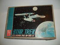 RARE STAR TREK ORIGINAL AMT ENTERPRISE MODEL KIT UNBUILT W/BOX 1960s