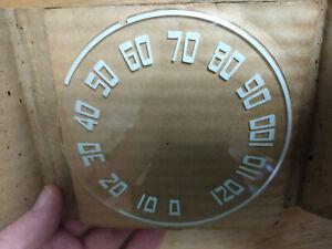 1942 1946 1947 1948 NASH 600 & Ambassador NOS speedometer dash gauge lens