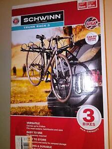 Schwinn 3-Bike Trunk Mount Rack -  Brand New In Box