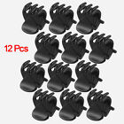 12 Pcs Black Plastic Mini Hairpin 6 Claws Hair Clip Clamp for Ladies SH B3L L8E1