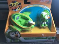 New Nick Jr. Top Wing Brody's Splash Wing Figure and Vehicle