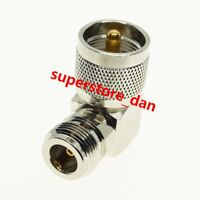 Right Angle UHF PL259 Male Plug to N Type Female RF HAM Radio Connector Adapter