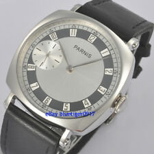 Retro Parnis 44mm Men's Hand Winding Seagull 6497 Movement Watch Arabic Numerals