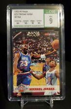 1993-94 NBA Hoops #257 Michael Jordan All-Star CSG 9 Mint Bulls HOF