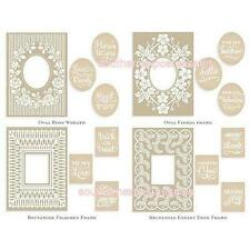 Anna Griffin Cuttlebug Mix & Match Trellis Embossing Folders, Variety Sentiments