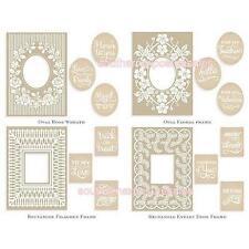 Anna Griffin Cuttlebug Mix & Match Trellis Embossing Folders, Variety Sentiments