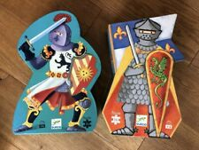 2 x Djeco The Knight And The Dragon Fantasy Jigsaw Puzzles Fantastique Puzzle