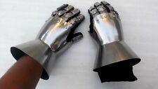 Halloween Medieval Gauntlets Armor Metal Plate Pair Gloves Knight Yule Day Gift