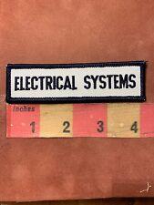 Vtg Car Technician Auto Mechanic ELECTRICAL SYSTEMS Tab Patch 00O1