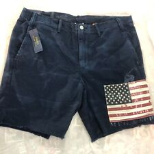 Ralph Lauren Polo Aviator Americana USA Flag Patch Shorts Mens Size 36 Chino NWT