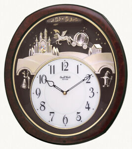 Rhythm Clocks Princess Fantasy Musical Wall Clock (4MH862WU23)