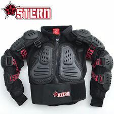 KIDS STERN MOTOCROSS BODY ARMOUR PROTECTION BLACK bionic suit jacket quad bike