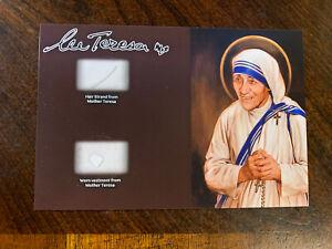 Saint Mother Teresa Hair Strand lock Vestment Worn Relic Catholic ex capillis