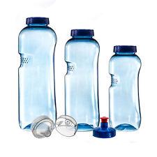Trinkflasche 0,5L-0,75L-1L aus Tritan + Push-Pulldeckel + Sportdeckel (BPA frei)
