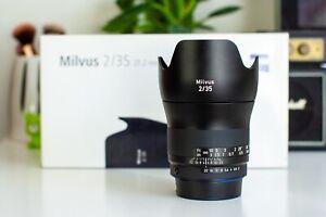 Zeiss Milvus 35mm f/2 ZF.2 Lens for Nikon F - MINT Condition