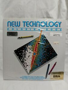 Vintage Amiga Commodore New Technology Coloring Book Also Works W/Deluxe Paint