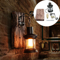 Outdoor Glass Lamp Vintage Industrial Wall Sconces Lantern Porch Yard  ~