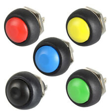 5Pcs Waterproof Momentary Push button Switch On/Off  Round 12mm Switch PBS-33 PQ