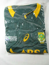 Asics Springboks Home Match Rugby Jersey 2015 World Cup Size Large New Condition