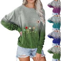 Womens Casual Long Sleeve Sweatshirt Travel Pullover Jumper T Shirt Tops Blouses