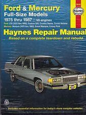 1975-1987 FORD MERCURY FULL SIZE MODELS Haynes Repair Manual