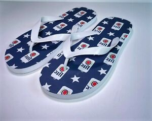 NIP -MILLER LITE Flip Flops with Beercans and Stars Unisex 9/10 - SIZE 10-1/2