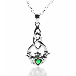 Irish Love Claddagh Pendant Sterling Silver 925 Hallmark All Chain Lengths