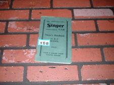 SINGER 10HP OWNERS HANDBOOK / MAINTENANCE MANUAL 1931.