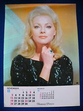 1967 Virna Lisi Japan VINTAGE Poster Calendar 12x16 VERY RARE