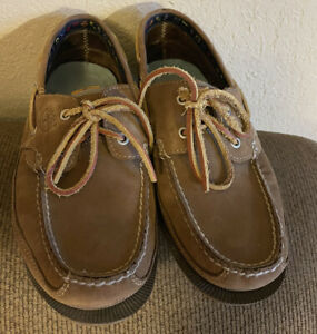 Timberland Maritime Boat Shoes ( 70520 ) Loafers Brown Leather Men's Sz 9.5