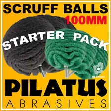 100MM PILATUS ABRASIVES SCRUFF BALL STARTER PACK - FITS DRILLS AND DIE GRINDERS