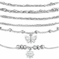 Amberta Jewelry 925 Sterling Silver Adjustable Bracelet Italian Bangle for Women