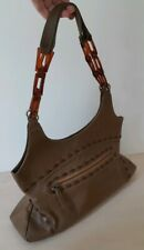 Kookai Genuine Leather Stitched Shoulder Bag Boho Western Style