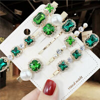 5Pcs Pearl Crystal Hair Clips Hairpin Barrette Stick Bobby Pin Hair Accessories,