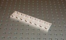 Lego - Electric, Plate 2 x 8 with Contacts, WHITE x 1 (4758) EL1