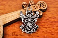 20pcs 20*14mm Charm lovers angel girl Diy Jewelry Bead Making For Bracelet 7200