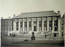 Pierre Lampué Nouvelle facade du palais de justice Paris Héliogravure XIXème