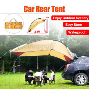 Portable Car Tent Travel Awning Rooftop Sunshade Outdoor Camping Tent Waterproof