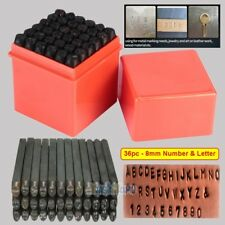 36 PC 8MM STEEL METAL LETTER AND NUMBER STAMP PUNCH STAMPING STAMPER TOOL SET US