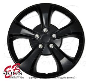 "Hubcaps Style#616 17"" Matte Black 4pcs Set 17 inch Rim Wheel Skin Cover Hub cap"