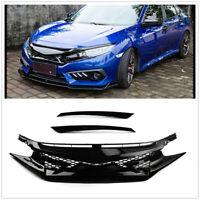 Car Front Bumper Mesh Hood Grille Grill for Honda Civic 10th Gen 2016 2017 2018