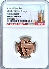 More details for 2020 1p one pence ngc ms69 rd dpl great britain shield uk penny