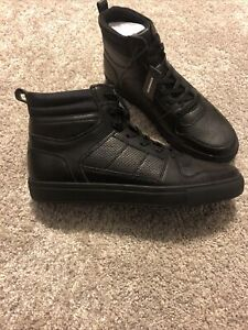 Mens Express High Top Black Shoes Size 10.5 NEW WITH TAGS