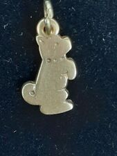 Retired James Avery Playful Puppy 14k Yellow Gold Charm